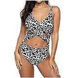 Ragazza Donna 2020 Una Spalla Coordinati Push Up Costume Intero con Imbottito da Bagno Stampa Bikini Spiaggia Bohemien Reggiseno Triangolo Mare e Piscina Beachwear YanHoo