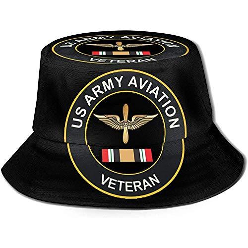 US Army Veteran Aviation Gedruckter Fisherman Bucket Sonnenhut, Funky Junque Bucket Caps
