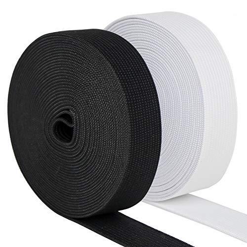 Waycreat 5 Yard Sewing Elastic Band 3 Inch Wide Heavy Stretch Fabric Elastic Band for Sewing Sports Wear, T-Shirt, Hat, Socks