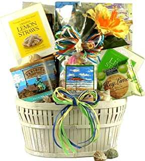 Seaside Snacks - Summer Themed Gift Basket Loaded with Refreshing Snacks - Perfect for Summer Vacation or a Day at the Beach