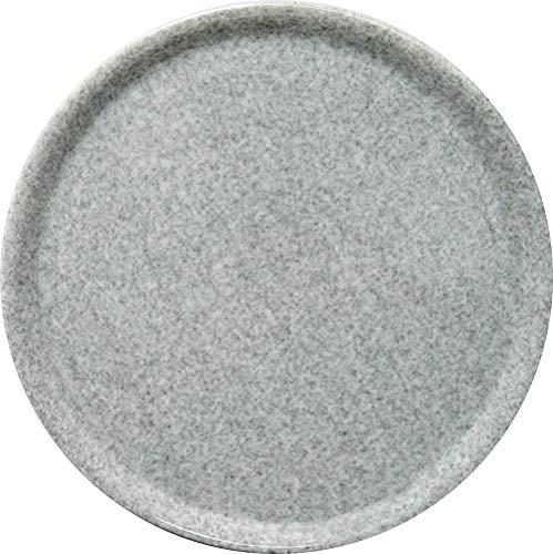 HENDI Pizzateller, Porzellan, Pizzateller Speciale, Geschirrspüler und Mikrowellenherde geeignet, ⌀330mm, Granit