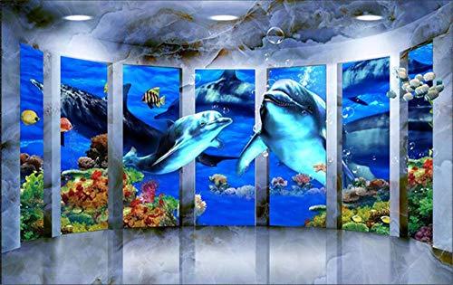 Muurschildering achtergrondfoto aangepaste 3D Wallpaper Moderne muur Space Ocean Whales behang voor woonkamer slaapkamer behang 3D Fotobehang, aFcvs10
