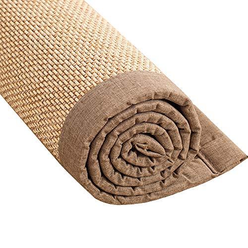 ZRUYI Tappeti Antiscivolo Tappeto Zerbino Ingresso Personalizzabile Cuscino Davanzale Soggiorno Balcone Addensare Stuoia in Tessuto di bambù, 2 Colori Opzionale (Color : B, Size : 90x180cm)