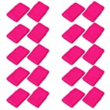 Mallofusa 10 Pairs Sports Wristband Sweatband Gym Yoga Wrist Support Sweatband...