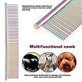Auseel Hundekamm, Hundesalon Tools deshedding Bürste Edelstahl Hundekamm mit hoher Qualität - 2