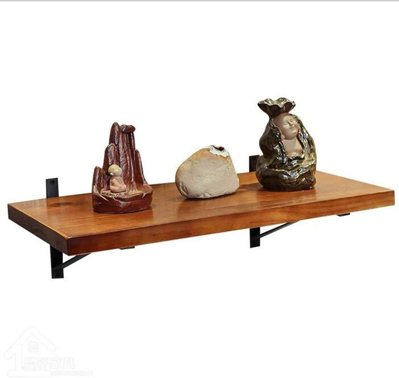 DYR Wall Shelf Vintage Wooden Kitchen Shelf for Wine (Dimensions  40  30cm)