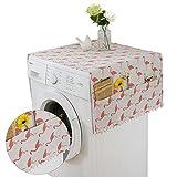 Funda a prueba de polvo para frigorífico, 130 x 55 cm, con bolsa de almacenamiento, protección contra el polvo de la lavadora, funda para el frigorífico