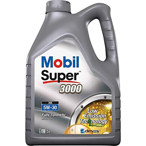 Mobil 050395 Super 3000 XE 5W-30- Lubricante Motor Automóvil, 5 litros
