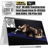 HP Spectre x360 2020 Latest 2 in 1 Laptop I 13.3' 4K UHD Touchscreen I Intel 4-Core i5-1035G4(i7-7500U) I 8GB DDR4 1TB...