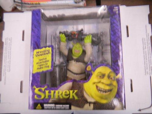 Wrestlin Shrek Figurine Ropes Included to Make Ring