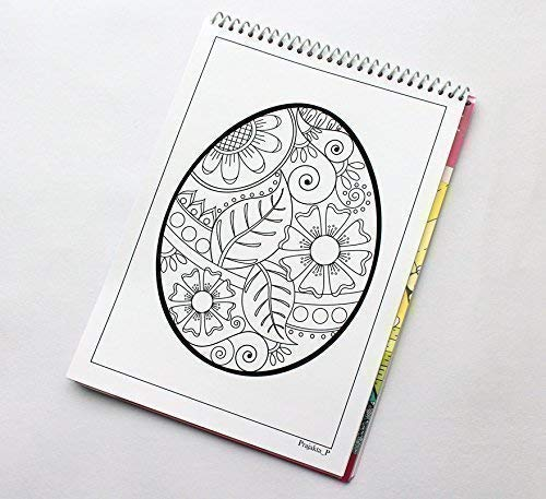 Happy Easter coloring book for adults, Vol 14 by Prajakta P, Spiral-bound fun and relaxation coloring book with stress relieving patterns for all