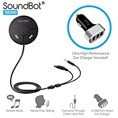 Universal Wireless 4.0 wireless technology with backward compatibility & A2DP profile for Smartpohne, Android, Apple iPhone 6 Plus, Google Nexus, Samsung Galaxy, Tablets, other media players Features echo and noise reduction technology for continuous...