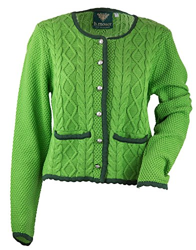 Jas gebreid jack dames dirndljas Walk jack klederdrachtgebreide jas. Moser damesjack in roze of groen