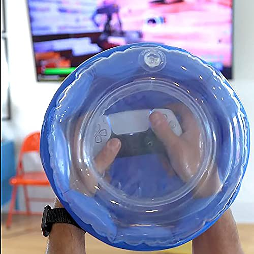 360° Inflatable Contraption Protects for Games Controllers,Rage Quit Protector,Protector Your Gaming Controllers with This Inflatable Device,Saving Your Controller (Blue)