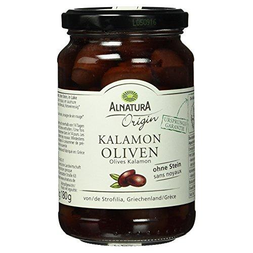 Alnatura Bio Origin Kalamon Oliven ohne Stein, 350 g