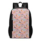 Homebe Zaino da Viaggio,Borsa Viaggio Animal Tiger Pattern Pink Yellow Blue Zoo...