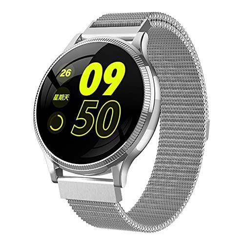 ZRY MK08 Waterproof Smart Watch Menición de la presión Arterial Medición de la Ritmo cardíaco Monitoreo de Seguimiento Deportivo Podómetro Deporte Whatch para Android iOS,B