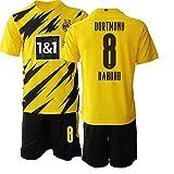 POHH 20/21 Herren Fußball Trikot DAHOUD 8# Erwachsene Fußball Sportswear (XL)