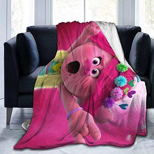 Mantas T-r-olls de dibujos animados suaves y cómodas, manta de micro forro polar, para cama o sofá, mantas para todas las estaciones