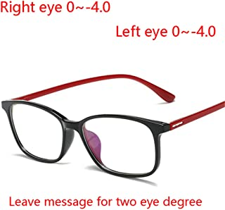 LNNSCE -1.0-1.5To -4.0 Ultralight Square Finished Myopia Glasses Women 1.56 Aspherical Lens Nearsighted Glasses Prescription