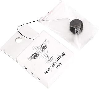 Cadena de mapeo pre-entintado para medición de cejas, herramienta de línea de hilo de marcador de cejas con microblading, suministros de microblading (10 m)(10m)