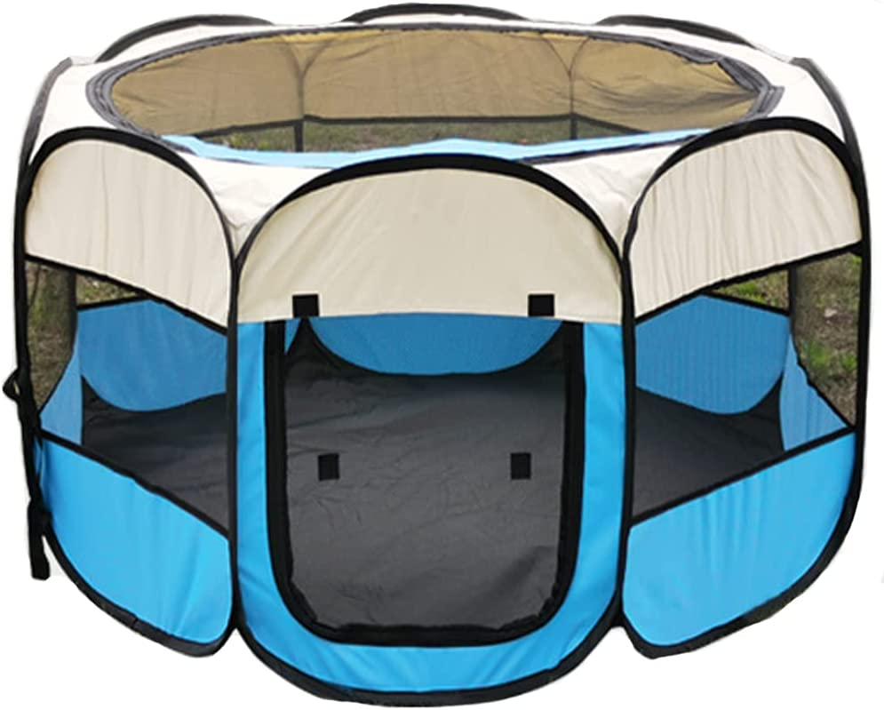 GREUS Portable Popularity Foldable Max 70% OFF Pet Playpen Pen Exercise Carry Tents