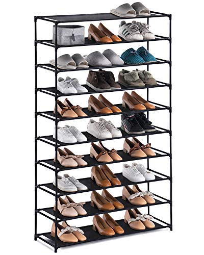 YOUDESURE 10 Tiers Shoe Rack, Large Shoe Rack Organizer for...