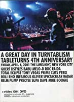 A GREAT DAY IN TURNTABLISM TABLETURNS 4TH ANNIVERSARY[Import]