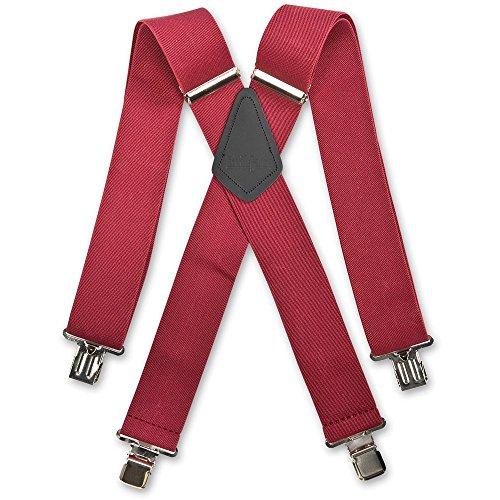 Plain Wide Braces Brimarc - Bretelles - Homme Rouge Bordeaux Taille unique