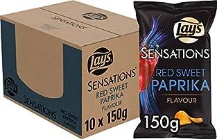 Lay's Sensations Chips Red Sweet Paprika, Doos 10 stuks x 150 g