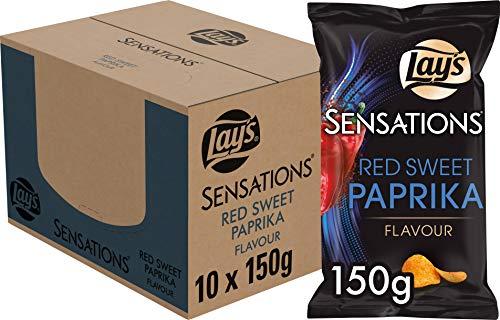 Lay's Sensations Chips Red Sweet Paprika, Schachtel 10 Stück x 150 g
