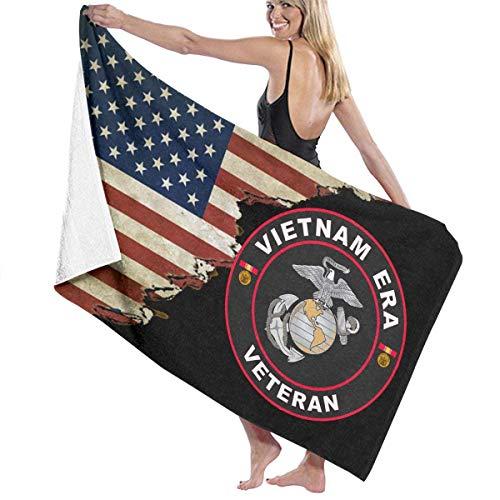 N / A Reisetuch,Badetücher,Strandhandtuch,Strandlaken,Strandtücher,Duschtuch,Handtuch,Saunatuch,Schwimmbadtuch,Wir Ma-Rine Co-RPS Vietnam Ära Veteran Mit Usa Flag Beach Towel