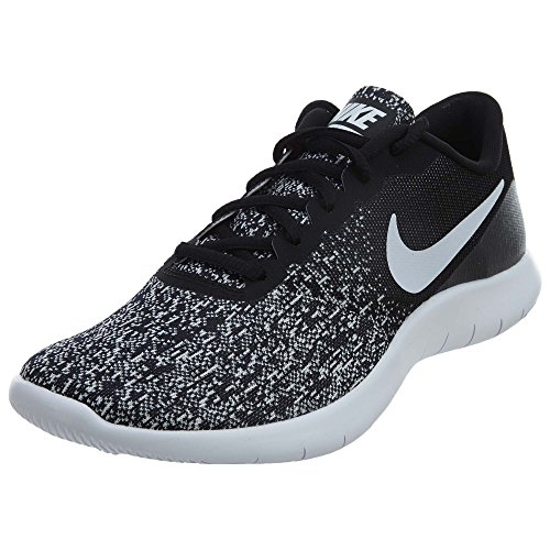 Nike New Womens Flex Contact Running Shoe Black/White 10