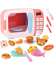 31PCS Kids Microwave Playset Interactive Realistic Pretend Play Toy Kitchen Toy