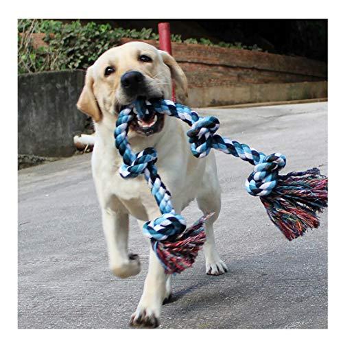 DIY House Hundespielzeug aus Seil für Starke große Hunde, 91 cm, 5 Knoten, Seil für Aggressive Kauen, interaktives Seil für große Hunderassen