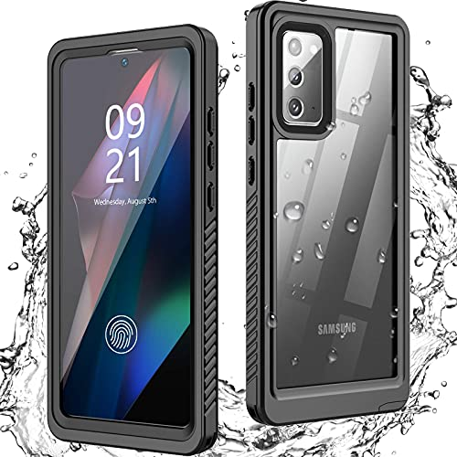 ANTSHARE Samsung Galaxy Note 20 Case Waterproof, Built in Screen Protector Shockproof Full Body 360 °Protective IP68 Underwater Clear Case for Galaxy Note 20 6.7 inch