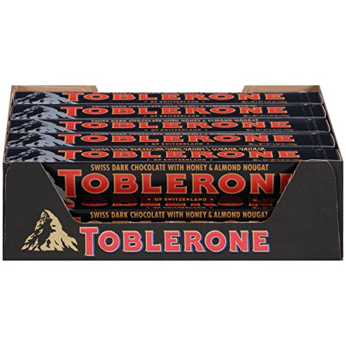 Toblerone Chocolate Bar, Dark, 3.52 Ounce (Pack of 20)