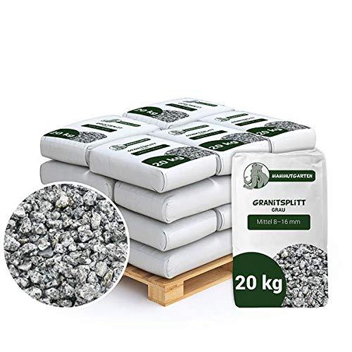 Granitsplitt Deko Splitt Gartenkies Buntkies Grau Fein 8-16mm Sack 20kg x 25 STK (500 kg)