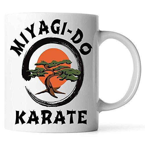 Miyagi-Do Karate Bonsai Tree Mug. Karate Kid 80s Movie Coffee Mug Ceramic (White, 11 OZ)