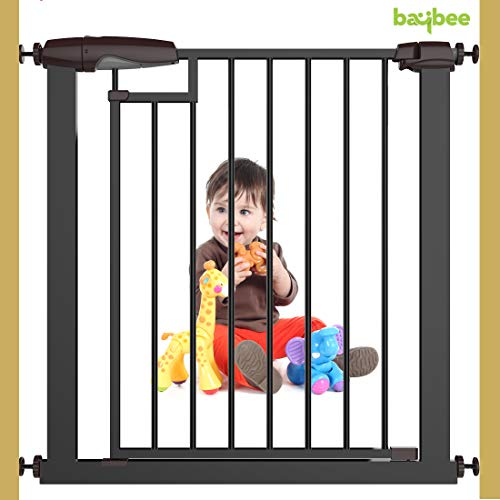 Baybee Auto Close Safety Baby Gate Auto Close Safety Baby Gate, Extra Tall and Wide Child Gate, Easy Walk Thru Durability Dog Gate for The House,... 7