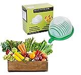 Improved Premium 60 second Salad Cutter Bowl by Grandfluence:. - Super Simple To Chop Fruit & Vegetables - Strain Slice and Serve – Enjoy Quick Fresh Homemade salad -Multifunctional Design