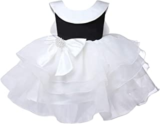 ZTXHRS Baby Girl Dress Sleeveless Infant Birthday Party Dresses Layered Tulle Bow Lace Tutu Tulle Outfits