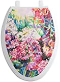 RNK Shops Watercolor Floral Toilet Seat Decal - Elongated