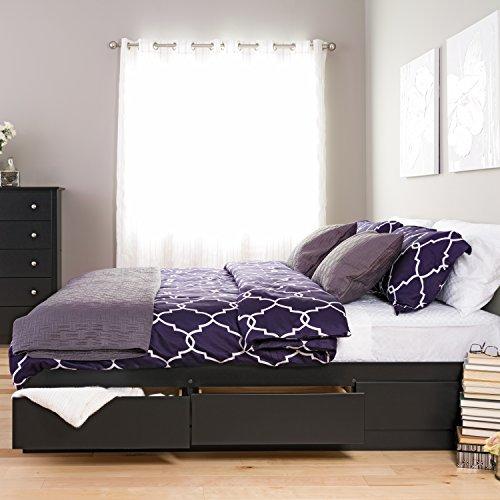 Prepac Mate's Platform Storage Bed with 6 Drawers, King, Black (Kitchen)