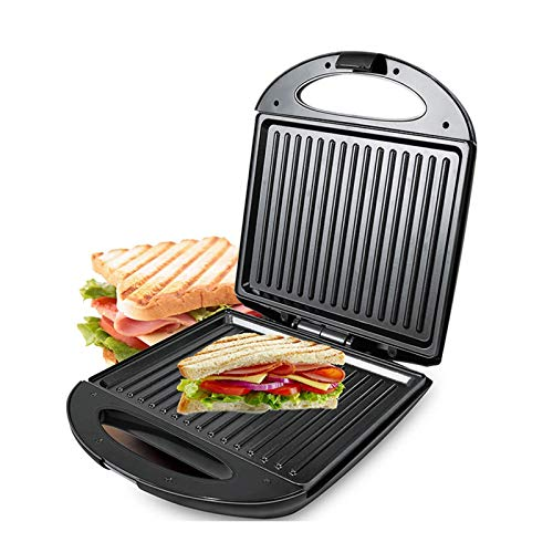 Allshiny Tostadora Tostadora de sándwiches/tostadora 2 porciones Prensa eléctrica Placas Calientes antiadherentes de llenado Profundo, fácil de Limpiar, 600 W