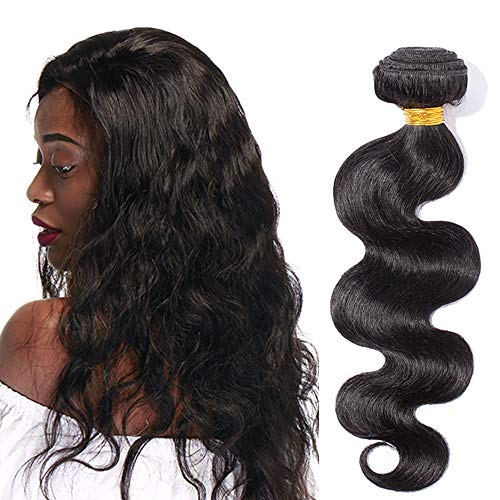 Extension Tessitura Capelli Veri Matassa Ricci Mossi Neri 100g Brazilian Virgin Human Hair Umani Ondulati 1 Bundle Nero Naturale Fascia Unica Body Wave 25cm
