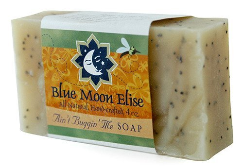 Blue Moon Elise Ain't Buggin Me Soap: All Natural soap using Pure Essential oils of Citronella, Eucalyptus and Lemongrass to discourage pesky pests. Perfect for camping and outdoor activities