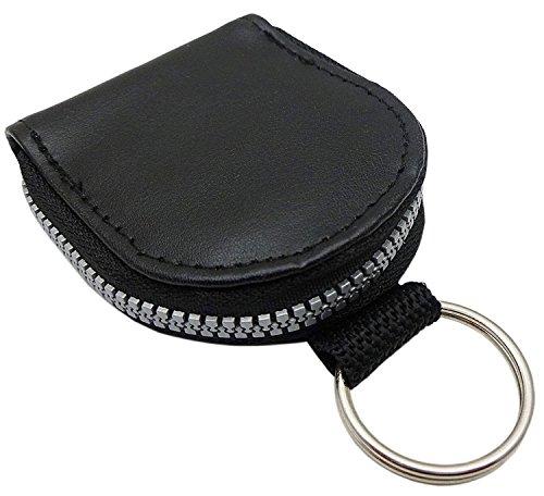 Schlüsselanhänger mit Kleingeldfach/Schlüsseltasche/Schlüsseletui/Schlüsselmäppchen/Schlüsselbörse in Schwarz