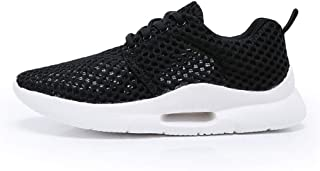 ZUAN Fashion Sneaker for Men Acrobatic Sport Shoes Lace up Mesh Fabric Hollow out Breathable Whippersnapper Running (Color : Black, Size : 48 EU)