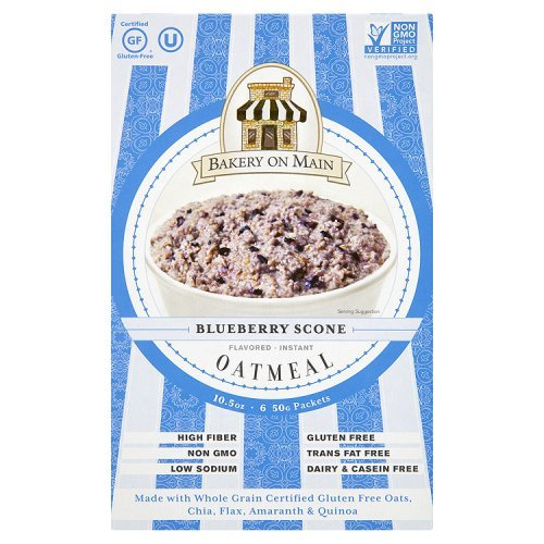Bakery On Main Gluten-Free, Non-GMO Ancient Grains Instant Oatmeal, Blueberry Scone, 10.5 Ounce/6 packets
